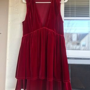 Gianni Bini Red Velvet Dress